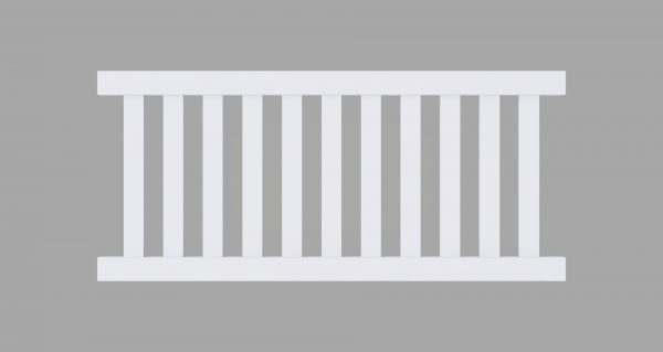 PVC Closed Picket Fencing