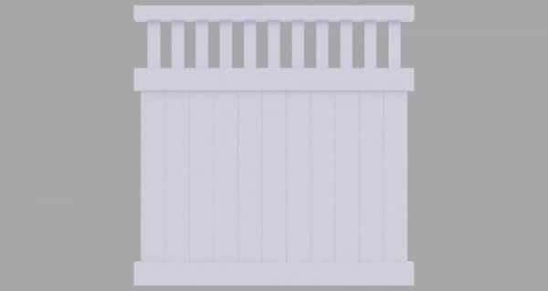 PVC Semi Private Fence