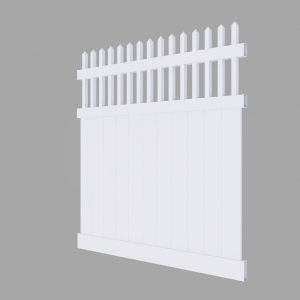 PVC Semi Private Fence